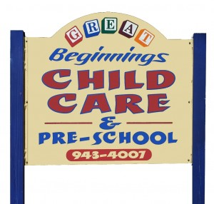 Great Beginnings Daycare DeLand FL Sign